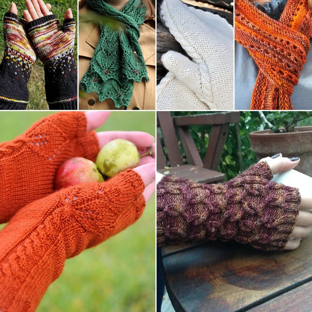 A collage of Rush Hour Knitting designs